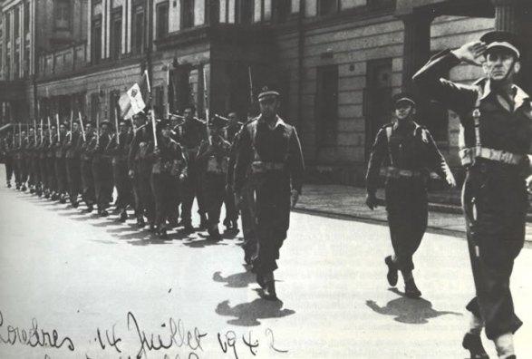 défilé du 14 juillet 1942 à Londres
